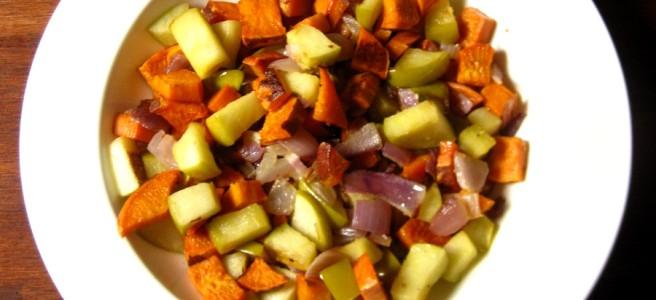 sweet potato and apple hash